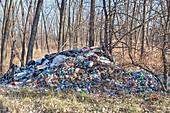 Dumped waste, Detroit, USA