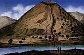Lava Flow, Prismatic Basalt, 1778