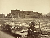 Taos Pueblo, UNESCO World Heritage Site, 1880