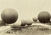 Hot Air Balloons, Italy, c. 1914