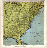 Map of America, 1791