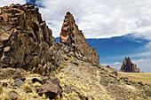 Basalt ridge and Shiprock NM
