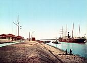 Suez Canal, El Kantara, 1905
