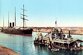 Suez Canal, Dredging Machine, 1905