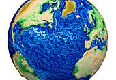 Global Surface Kinetic Energy, 2015