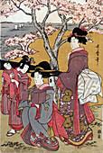 Cherry Blossom Viewing at Gotenyama, 1805