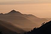 Cordillera Negra mountains at sunset