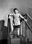 Polio patient in Europe after World War II