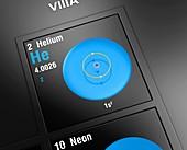 Helium, atomic structure