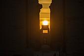 Solstice sunrise at Egyptian temple at Karnak