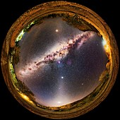 Milky Way and zodiacal light, 360-degree all-sky image