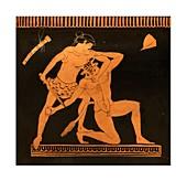 Theseus and Minotaur storage jar.