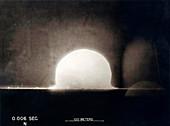 Trinity Test atom bomb 0.006 seconds after detonation, 1945