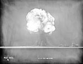 Trinity Test atom bomb 16 seconds after detonation, 1945