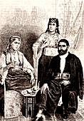 19th Century Jewish Algerians, illustration