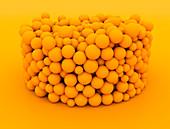 Orange balls stacked, illustration