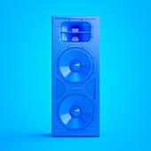 Illustration of a blue speaker