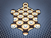 Graphene batteries, conceptual illustration