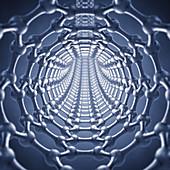 Graphene nanotube, illustration
