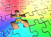 LGBT jigsaw puzzle, illustration