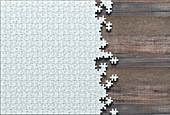 Incomplete jigsaw puzzle, illustration