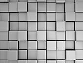 Metallic cube surface, illustration
