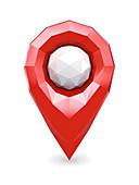 Geolocation position icon, illustration