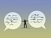 Arbitration, conceptual illustration