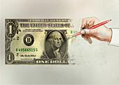 Financial loss, conceptual illustration