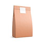 Brown paper bag, illustration