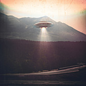 Unidentified flying object, composite image