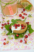 Wild strawberry tartlets