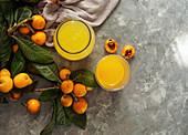 Fresh loquat juice