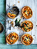 Roasted Garlicky Pumpkin and Sage Pies