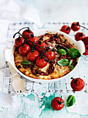 Caramelised Onion and Capsicum Strata