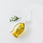 Homemade thyme oil
