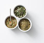 Various Mediterranean herb mixtures
