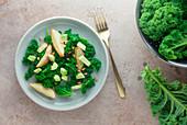 Kale salad with avocado