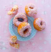 Pink Coconut Doughnuts