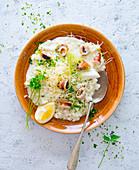 Risotto with calamari and parsley