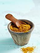 Caribbean spice mixture in a little pot
