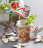Spice mixture for tomato sauce and pasta