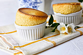 Sweet souffle with vanilla