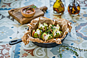 Fresh figs with feta cheese