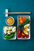 Gado gado (vegetables with peanut sauce, Indonesia)