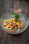 Vegetable salad with borlotti beans