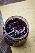 Onion and grape preserve