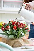 Zwiebelstrauß aus Tulpen