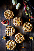Apple lattice tartlets