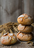 Rustic bread rolls